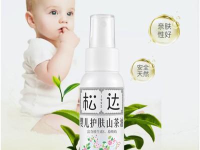宝宝抚触好搭档滋润养肤就选松达婴儿护肤山茶油